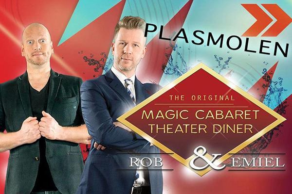 Magic caberet theater diner show met Rob en Emiel