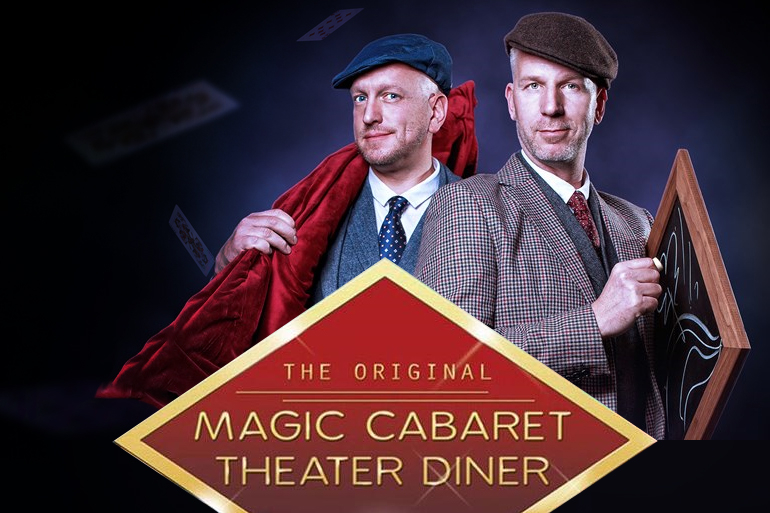 Magic cabaret theater diner show met Rob en Emiel