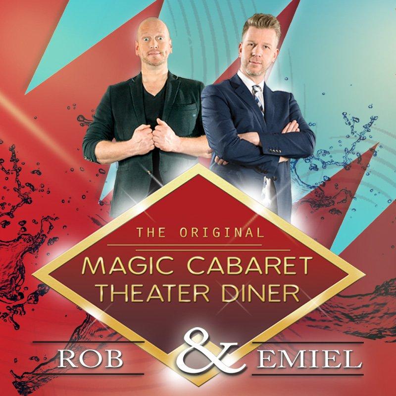 Wat is het magic caberet theaterdiner met Rob en Emiel nu eigenlijk